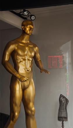 Golden Man, Dry Cleaners, Geneva, NY