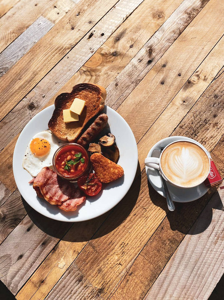 Full English Breakfast and Coffee