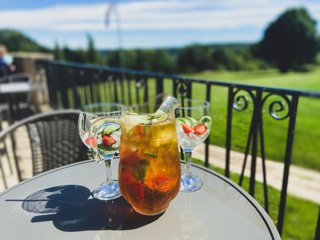 Pimms on the Terrace