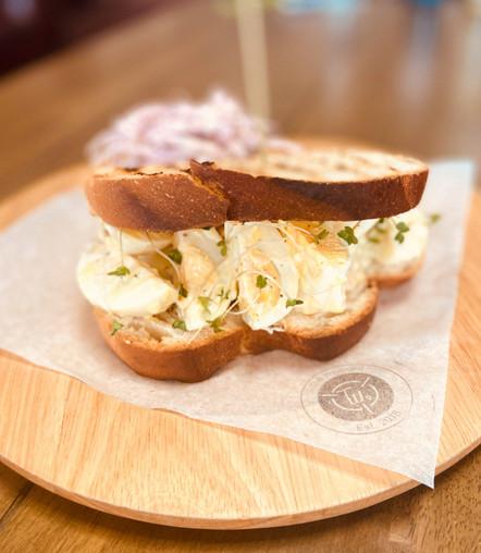 Egg and Cress Deli Sandwich