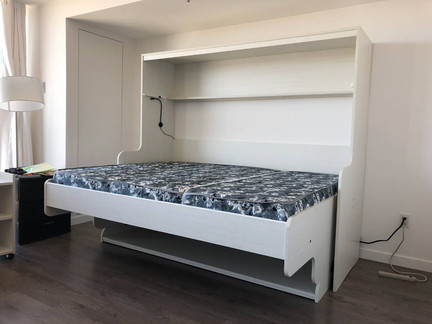 Murphy bed alternative-hidden bed by Wood Products Unlimited
