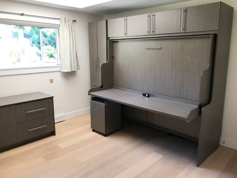 Hidden bed with desk