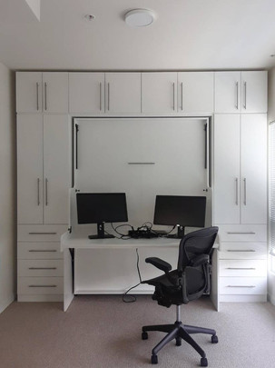 White desk bed combo