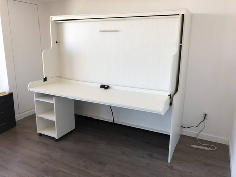 Murphy bed alternative, hiddenbed with desk