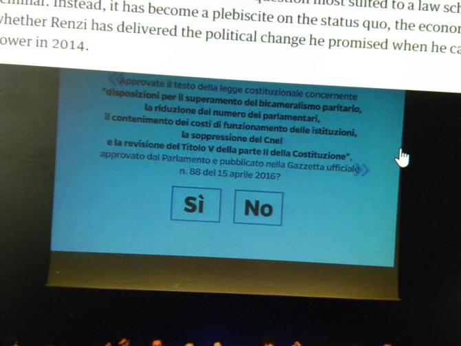 Die Angst steigt, Renzi könnte das nächste Opfer eines Referendum werden