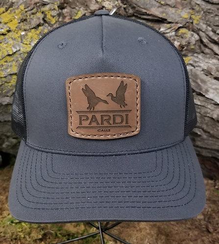 Pardi Leather Patch Hat - Gray / Black Mesh