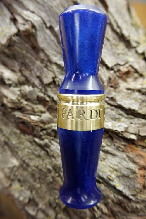 Pardi Acrylic Specklebelly Goose Call- Cobalt Blue Polished