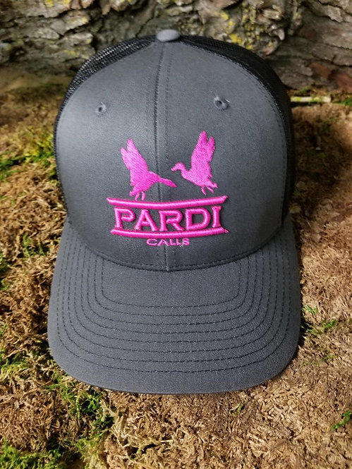 Pardi Embroidered Hat - Gray/Black/Pink