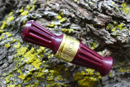 Pardi Acrylic Specklebelly Goose Call - Straight Lines Mulberry