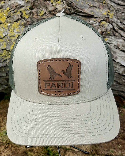 Pardi Leather Patch Hat - Light Green / Green Mesh