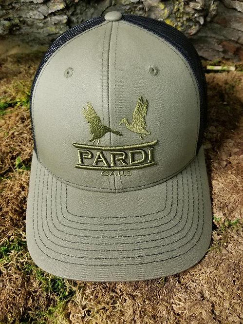 Pardi Embroidered Hat - Olive-Black-Dark Olive