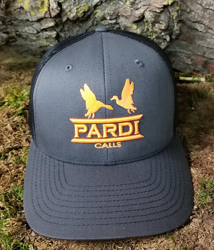 Pardi Embroidered Hat - Gray / Black / Orange