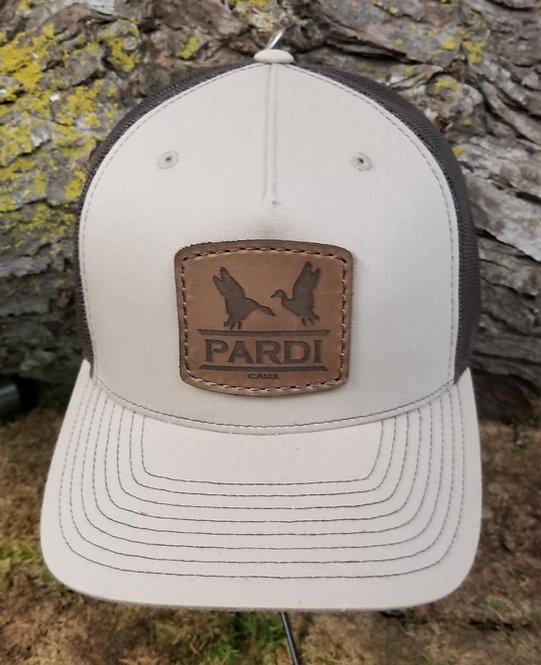Pardi Leather Patch  Hat - Khaki / Brown Mesh