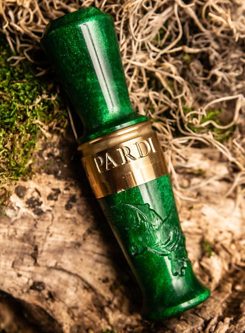 Pardi Engraved Speck Call - Juniper Green