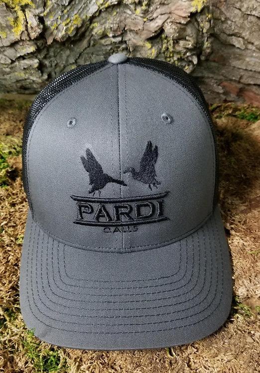 Pardi Embroidered Hat - Gray/Black/Black
