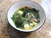 seaweed soup, mushroom soup, miso soup, tofu, superpower soup