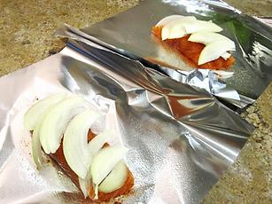 salmon recipes, baked salmon, onion almon recipe
