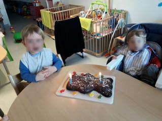 Nous avons tous souhaité un joyeux anniversaire à Noé et Alessio !!!