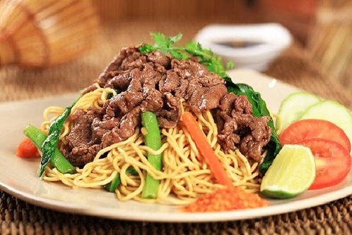 Stir fried sliced beef & veggies