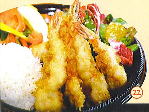 Sweet and sour Prawn in batter on Rice