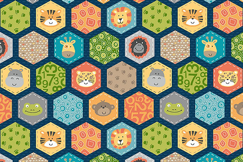 Jungle Friends co-ordinating fabric CT9273