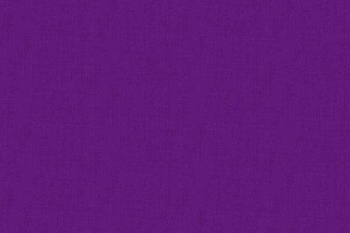 Makower Linen Texture Pansy
