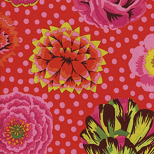 Kaffe Fassett Big Blooms/Red