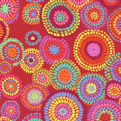 Kaffe Fassett Mosaic Circles/Red