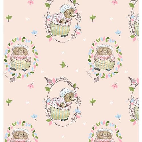 Peter Rabbit & Friends Co-ordinating fabric Miss Tiggywinkle