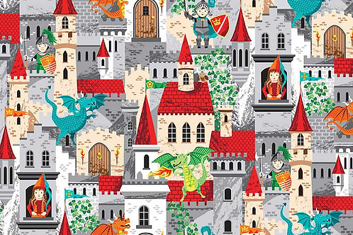 Dragonheart Co-ordinating Fabric - Castles