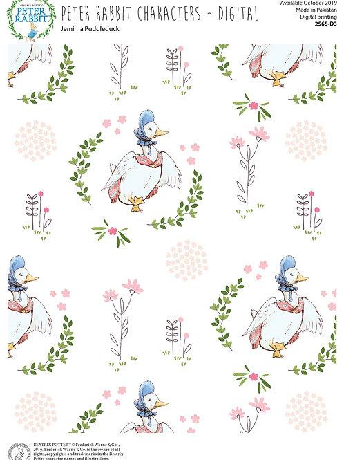 Peter Rabbit & Friends Co-ordinating Fabric - Jemima