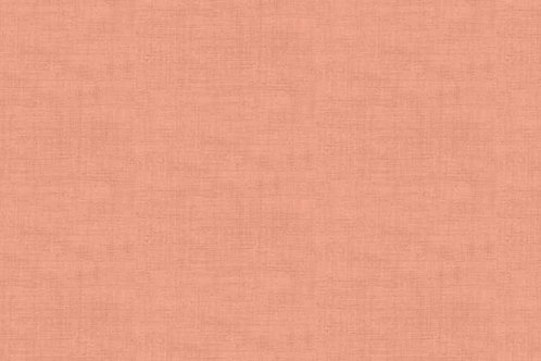 Makower Linen Texture Coral Pink
