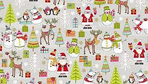 Christmas fabric at Country Threads quilting shop in Bath, UK