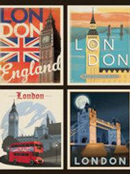 LONDON ICONS RETRO PANEL