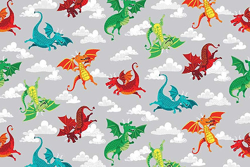 Dragonheart Co-ordinating Fabric - Dragons