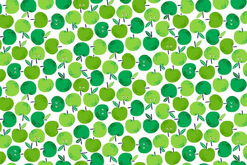 Fruity Friends Co-ordinating Fabric - Apples