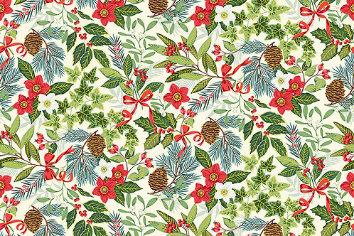 Yuletide Foliage co-ordinating fabric CT29