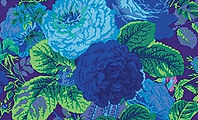 Kaffe Fassett GRADI FLORAL PURPLE fabric at Country Threads quilting shop.jpg