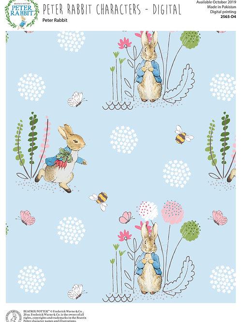 Peter Rabbit & Friends Co-ordinating fabric Peter 2