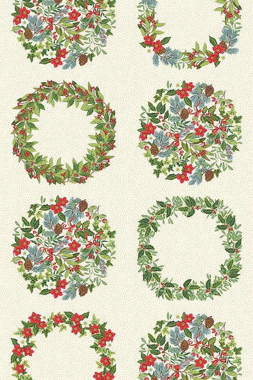 Yuletide Wreath Panel 68
