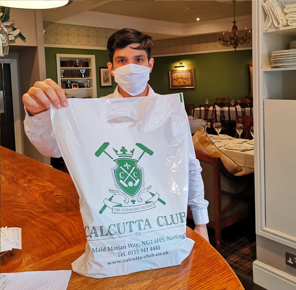 Calcutta club takeaway bag