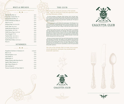 Calcutta Club Main Menu page 2