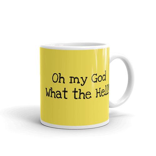 """""""OMG"""" Yellow Mug"""