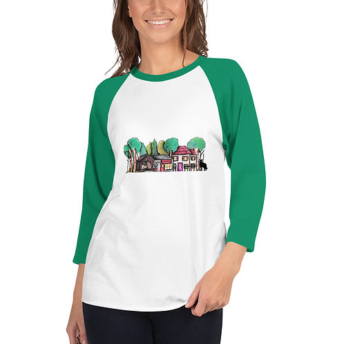 Green Creek 3/4 sleeve raglan shirt