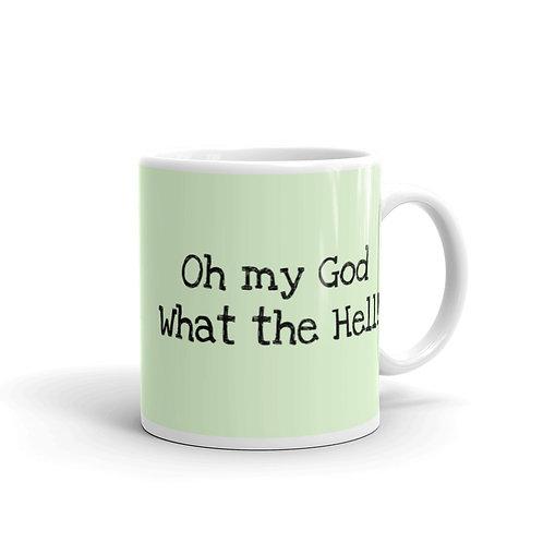 """""""OMG"""" Green Mug"""