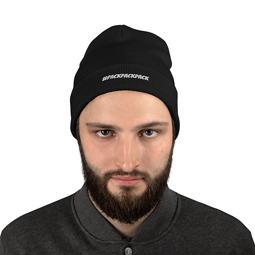 #packpackpack Embroidered Beanie