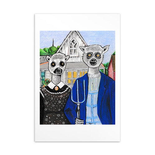 Lemurican Gothic Postcard