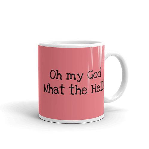 """OMG"" Pink Mug"