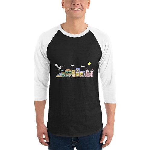 Seafare 3/4 sleeve raglan shirt
