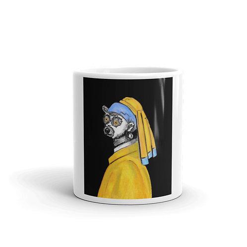 Lemur with a Pearl Earing Mug
